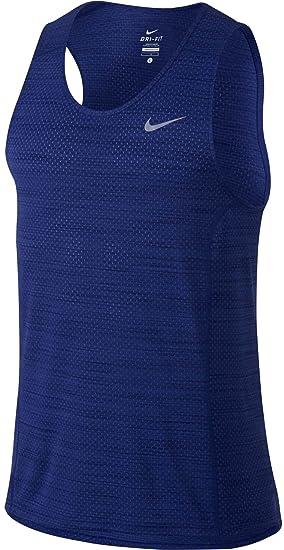 95a78a86f375e Nike Dri-Fit Cool Miler Singlet - Camiseta sin Mangas para Hombre ...