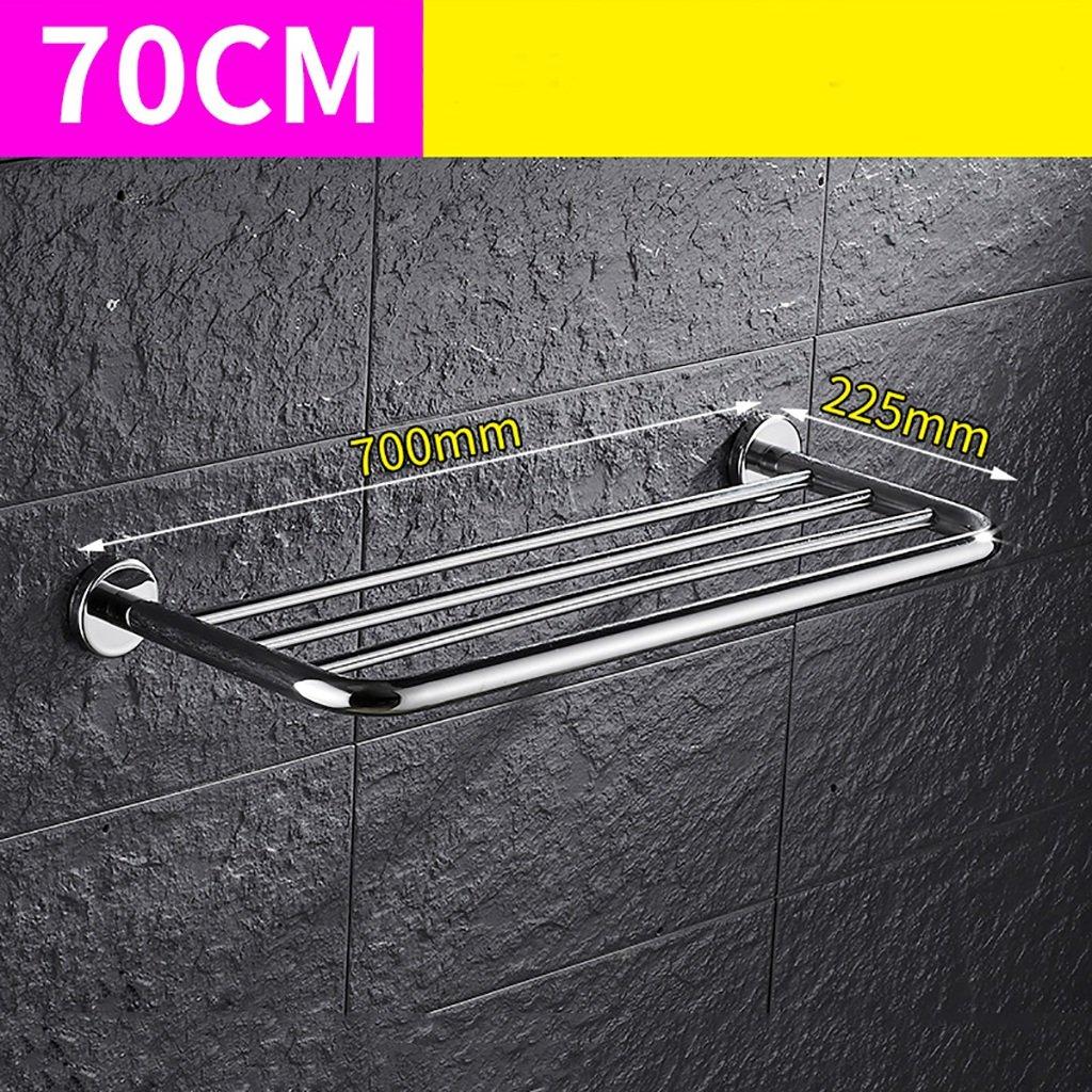 タオルバー バスルームタオルラック304ステンレススチールタオルラックバスルームのハードウェアアクセサリーシングルタオルラック (サイズ さいず : 80センチメートル) B07F225ZXT 80センチメートル 80センチメートル