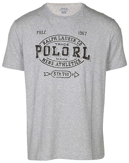 60811be8 Polo Ralph Lauren Men's Athletics Graphic T-Shirt-Heather Grey-Large at  Amazon Men's Clothing store: