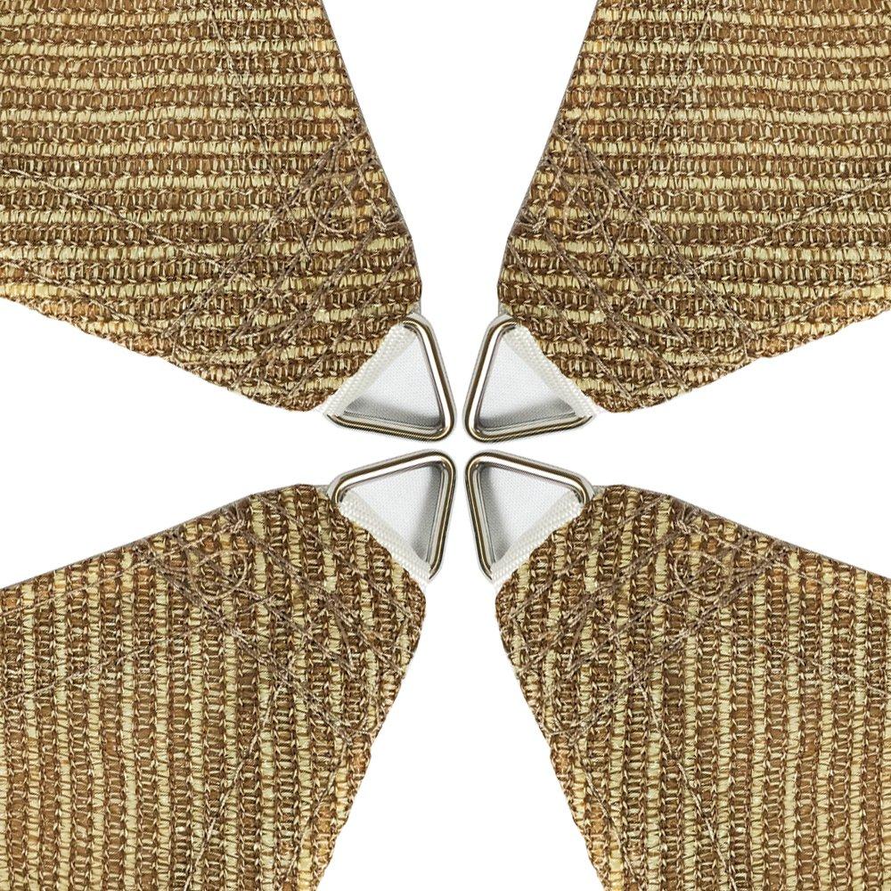 Alion Home HDPE Rectangle Sun Shade Sail Permeable Canopy Custom 20 x 24 , Walnut