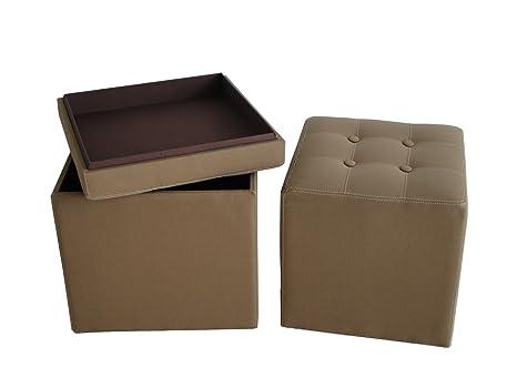 Amazon.com: visualización Gems muebles Valencia lona otomana ...