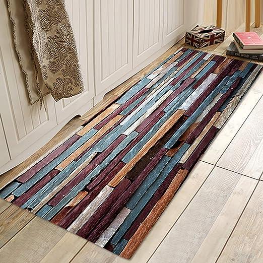 "24x16/"" Retro Stone Wall Non-slip Door Floor Home Decor Bathroom Rug Mat Carpet"