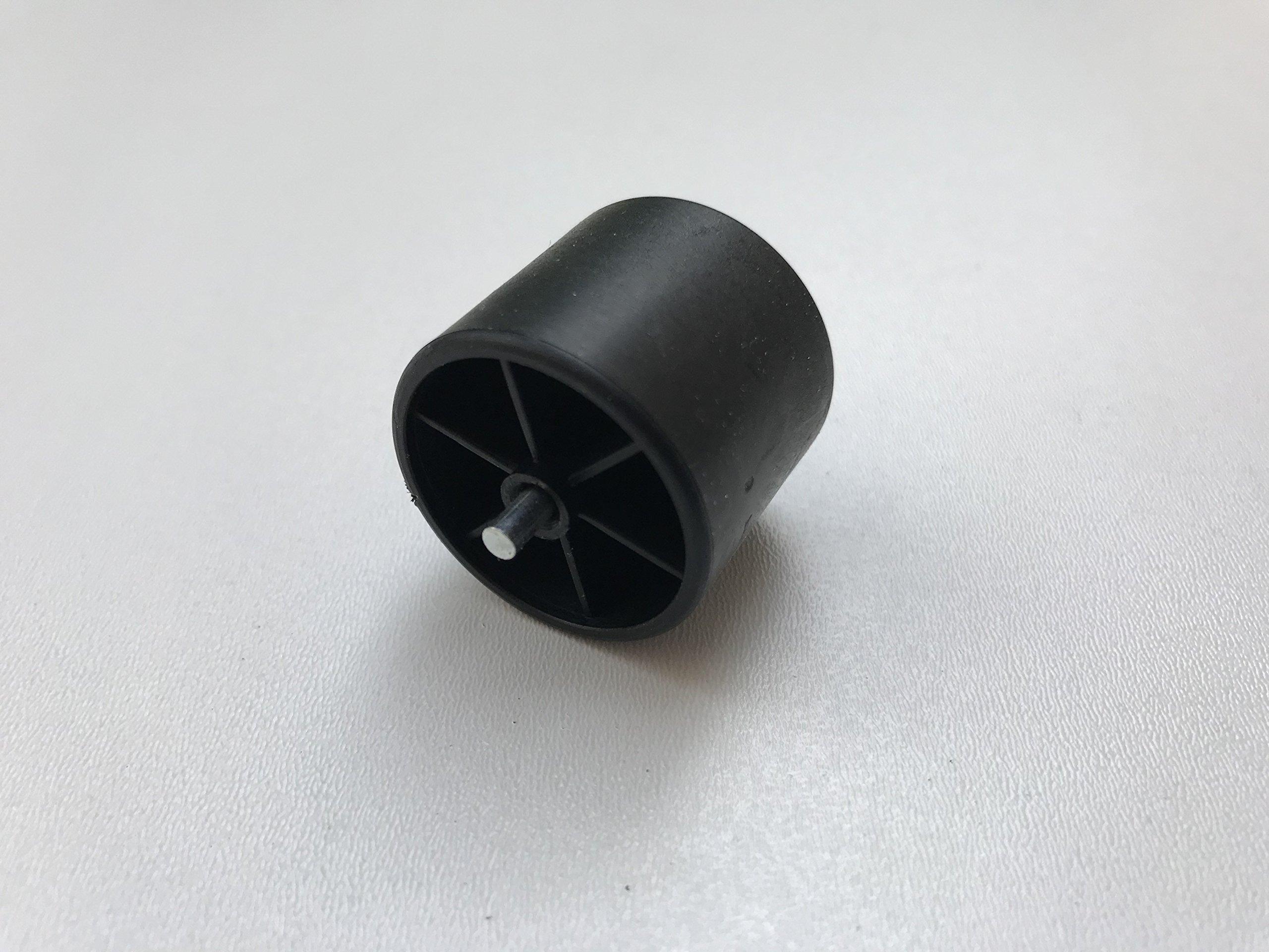 Skate Wheel Plastic Dia 28 mm for Roller Track Flow Rail Conveyor Black ESD (Pack of 10)