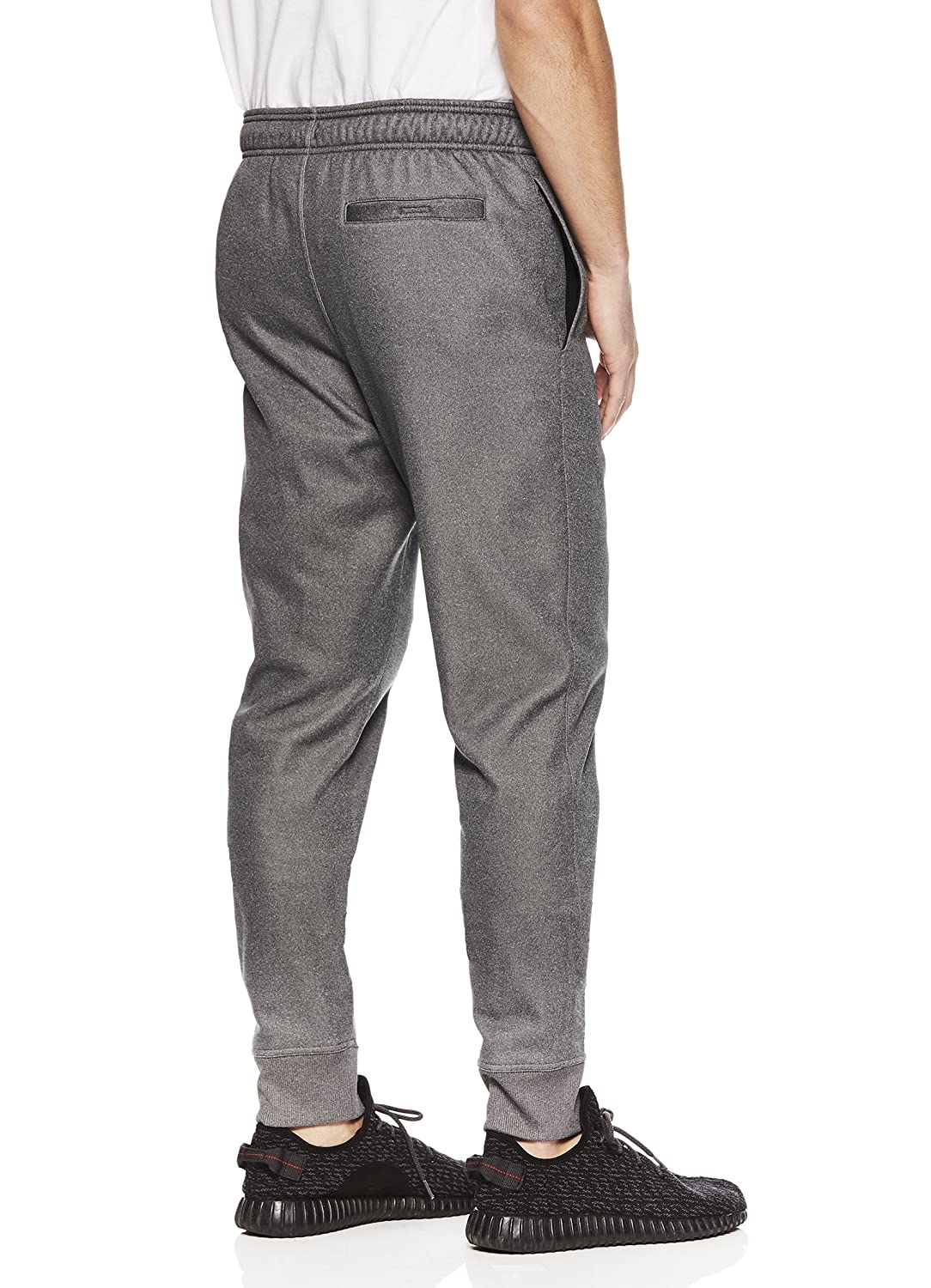 Athletic Workout Sweatpants Reebok Mens Jogger Running Pants with Zipper Pockets