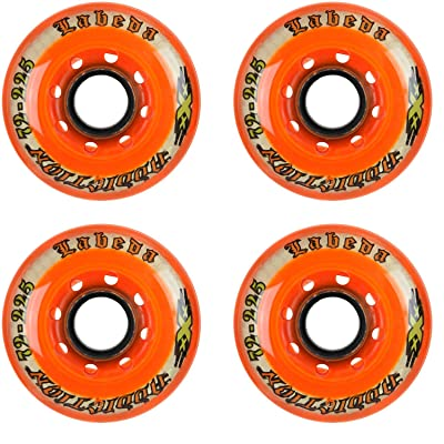 Labeda Addiction Wheels XXX Grip Orange 225 72mm Roller Hockey 4-Pack : Sports & Outdoors