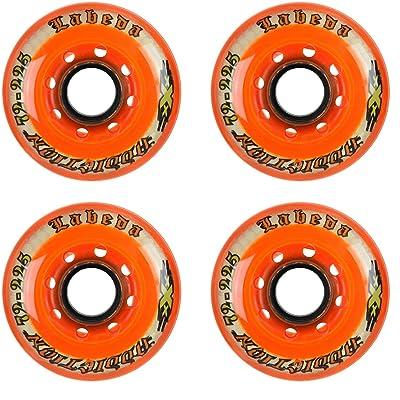 Labeda Addiction Wheels XXX Grip Orange 225 72mm Roller Hockey 4-Pack : Sports & Outdoors