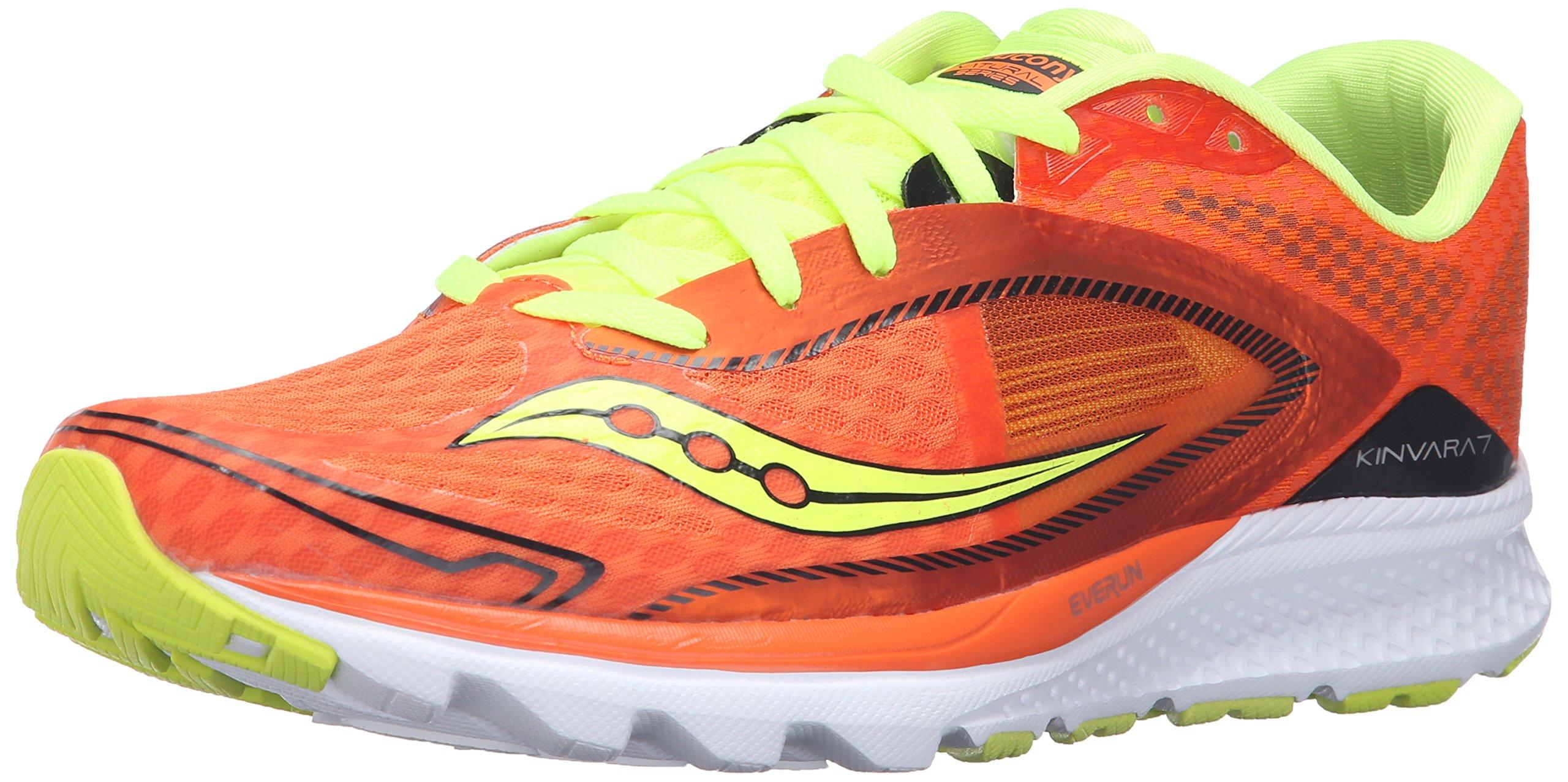 Saucony Men's Kinvara 7 Running Shoe, Orange/Cotton/Blue, 11 M US