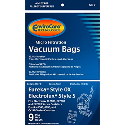 Eureka Style OX Electrolux Harmony Oxygen Micro Allergen Vacuum Cleaner Bags DVC