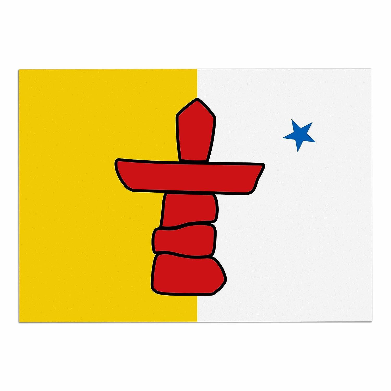 KESS InHouse BS1065ADM02 Bruce Stanfield Flag of Nunavut Yellow Tribal Dog Place Mat, 24 x15