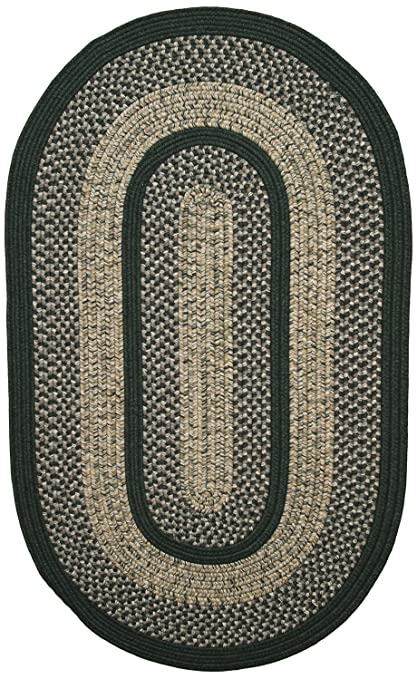 Amazon Com Thorndike Mills Town Crier Green Oval 27 X 6 Runner