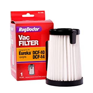 Rug Doctor DCF 10/14 Filter, One Replacement Vacuum Cleaner Filter that Screens Out Pollutants for a Clean Home, Use with Upright Bagless Eureka Vacuum Cleaner Models