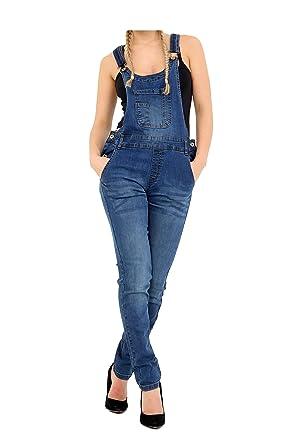 5b7143690054 Fashion Oasis Womens Denim Jeans Dungarees Long Length Pinafore ...