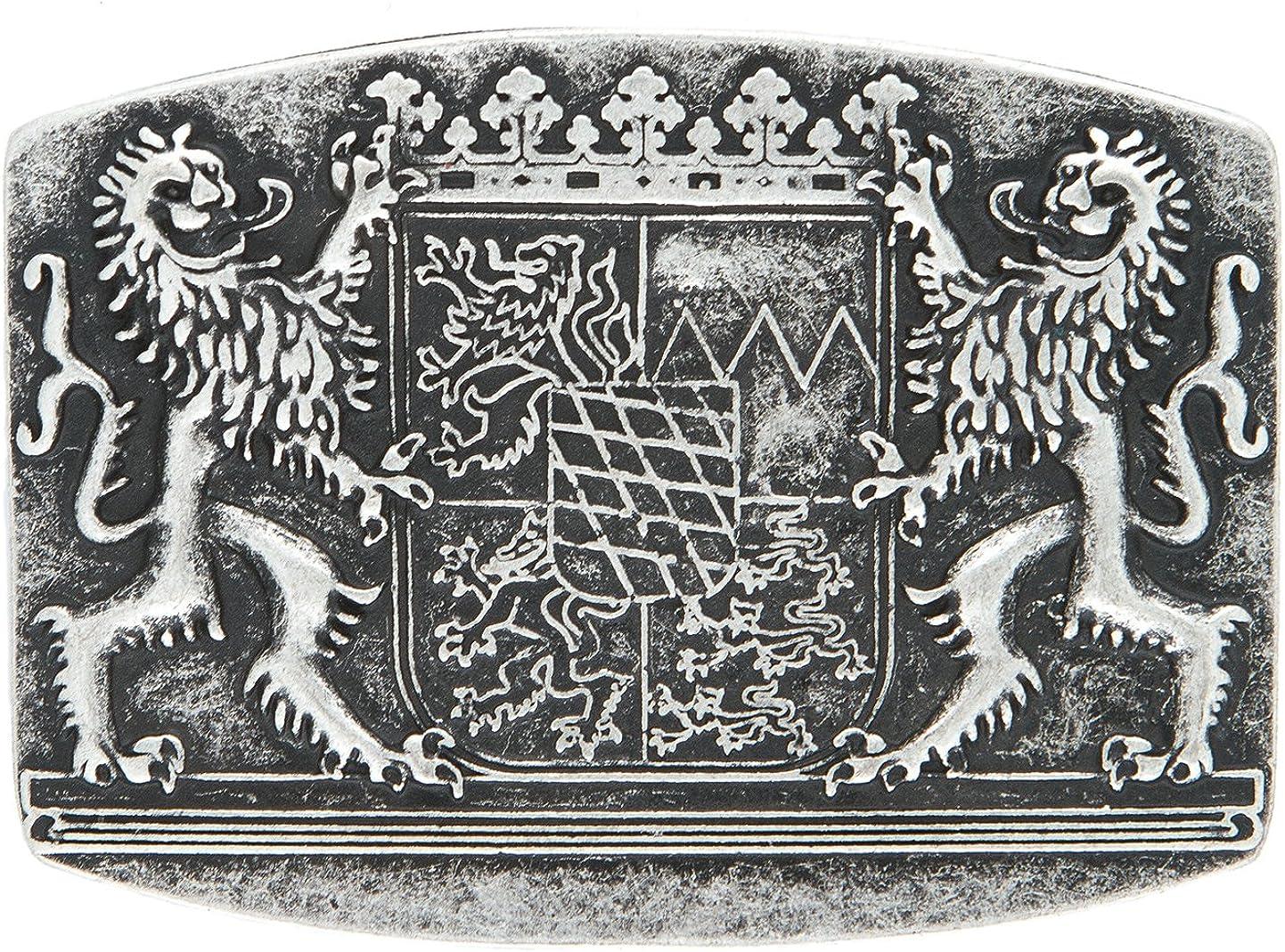 G/ürtelschliesse Landeswappen silber Bayrische G/ürtelschnalle Bayern Wappen Tracht Buckle eckig Bayern Farbe