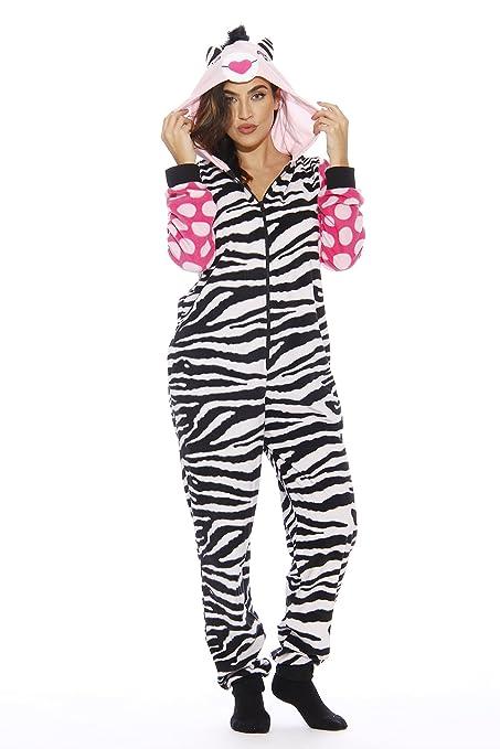 d098cd0fe44d Animal Print Microfleece Adult Onesie One-Piece Pajamas