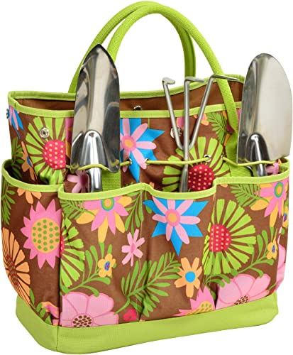 Picnic at Ascot 341-F USA 3 Stainless Steel Tools-Designed Assembled in, One Size, Floral