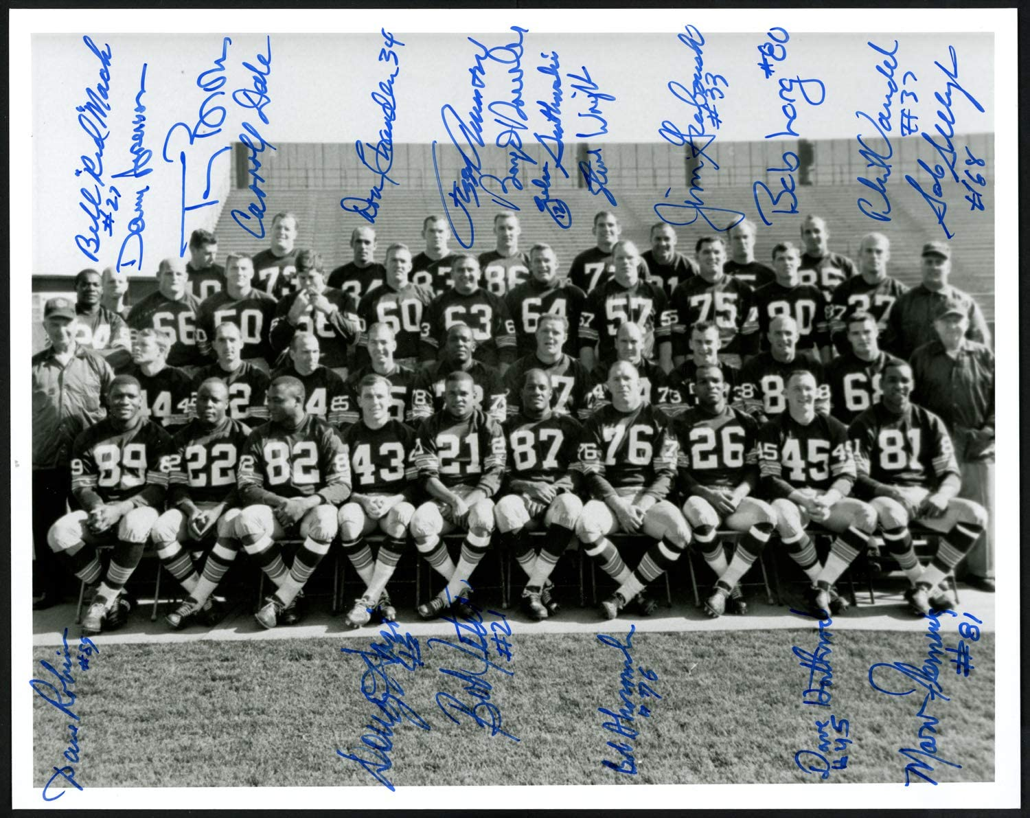Autographed Bill Red Mack 8x10 Green Bay Packers Photo