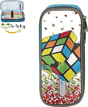 Rubik s Cube - Estuche para lápices de gran capacidad: Amazon.es: Oficina y papelería