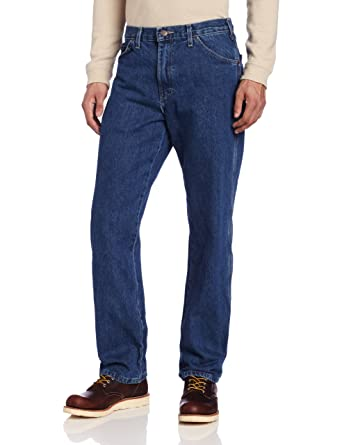 87a5501e Dickies Men's Relaxed-Fit Carpenter Jean at Amazon Men's Clothing store:  Stonewashed Jeans