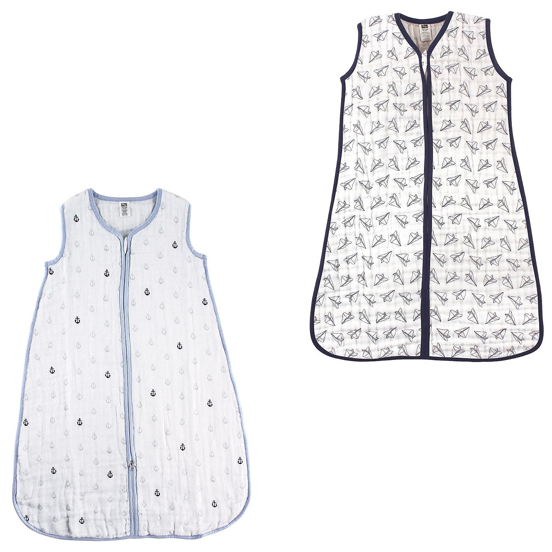 Hudson Baby Safe Sleep Wearable Muslin Sleeping Bag, 2 Pack P_51003+50661