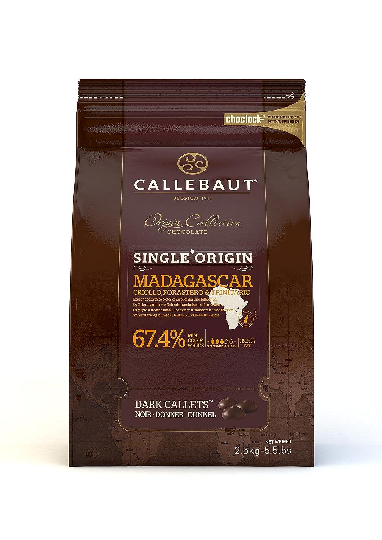 Callebaut Origen, Madagascar 67.4% chocolate negro 2.5kg: Amazon.es: Alimentación y bebidas
