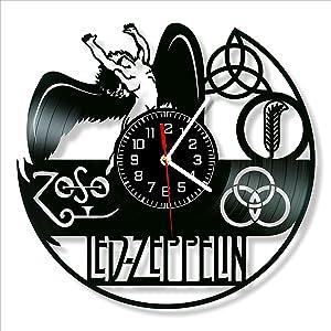 Led Zeppelin Vinyl Clock, Led Zeppelin Wall Clock 12 inch (30 cm), Original Gifts for Fans Led Zeppelin, The Best Home Decorations, Unique Art Decor, Original Idea for Home Decor