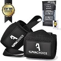 Alphachoice Handgelenk Bandagen Fitness Handgelenkschoner für Bodybuilding, Krafttraining, Crossfit | Wristband Handbandage Gelenkschoner Frauen und Männer