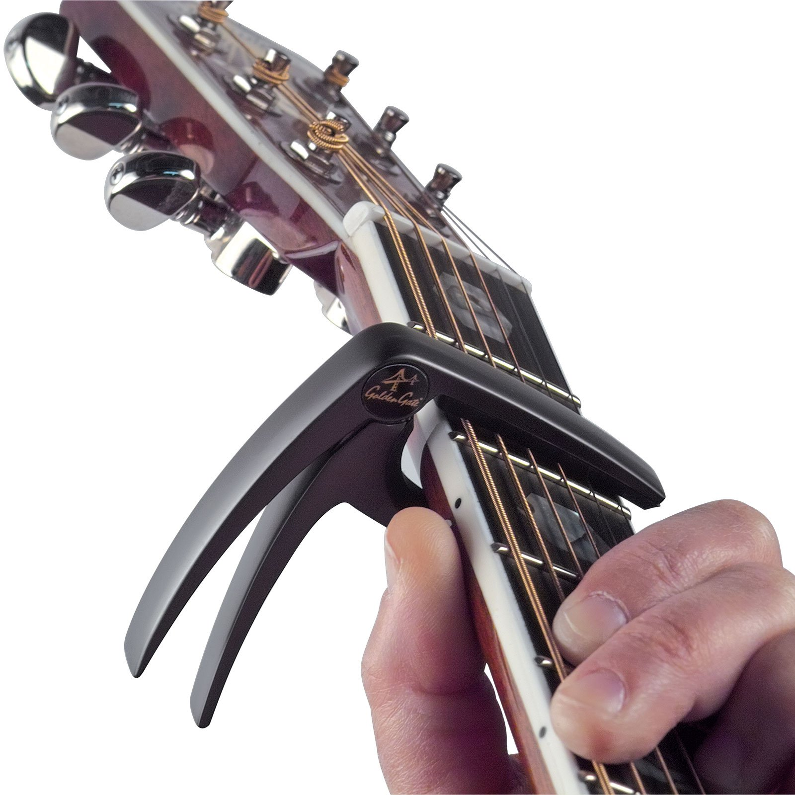 Golden Gate GC-50PK Acoustic Guitar Capo - Pink by Golden Gate (Image #2)