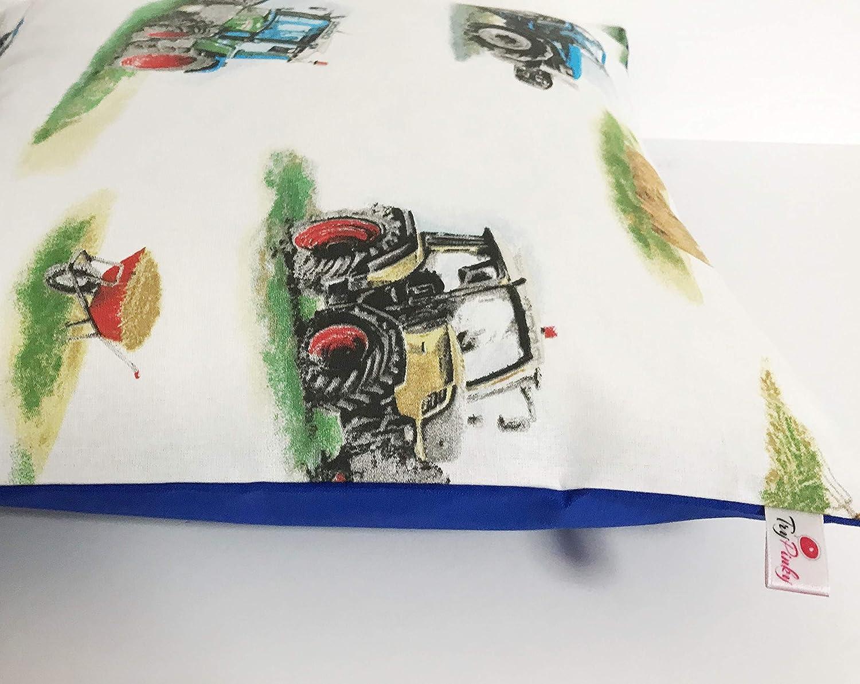 Kissenh/ülle 40 X 40 cm Traktor Blau Auto Kissen Kissenbezug f/ür Kissen 100/% Baumwolle BW Handmade Zierkissen Zierkissenh/ülle Zierkissenbezug Kinderkissen jungenkissen