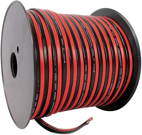 2-Rolls 8 Gauge Speaker Wire 200/' ft Red//Black Car Audio Subwoofer Amplifier