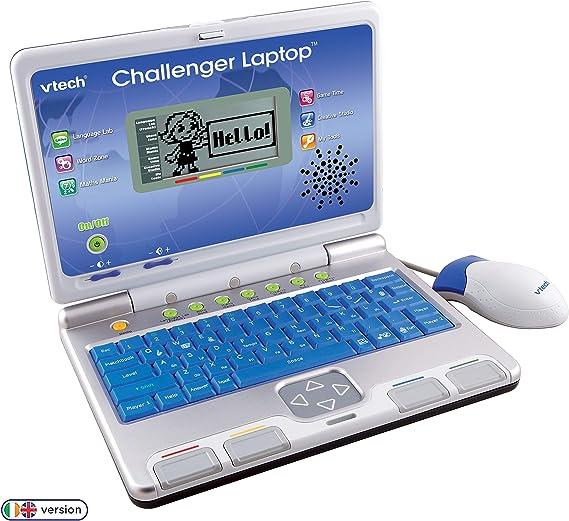 Amazon Com Vtech Challenger Laptop Blue Toys Games
