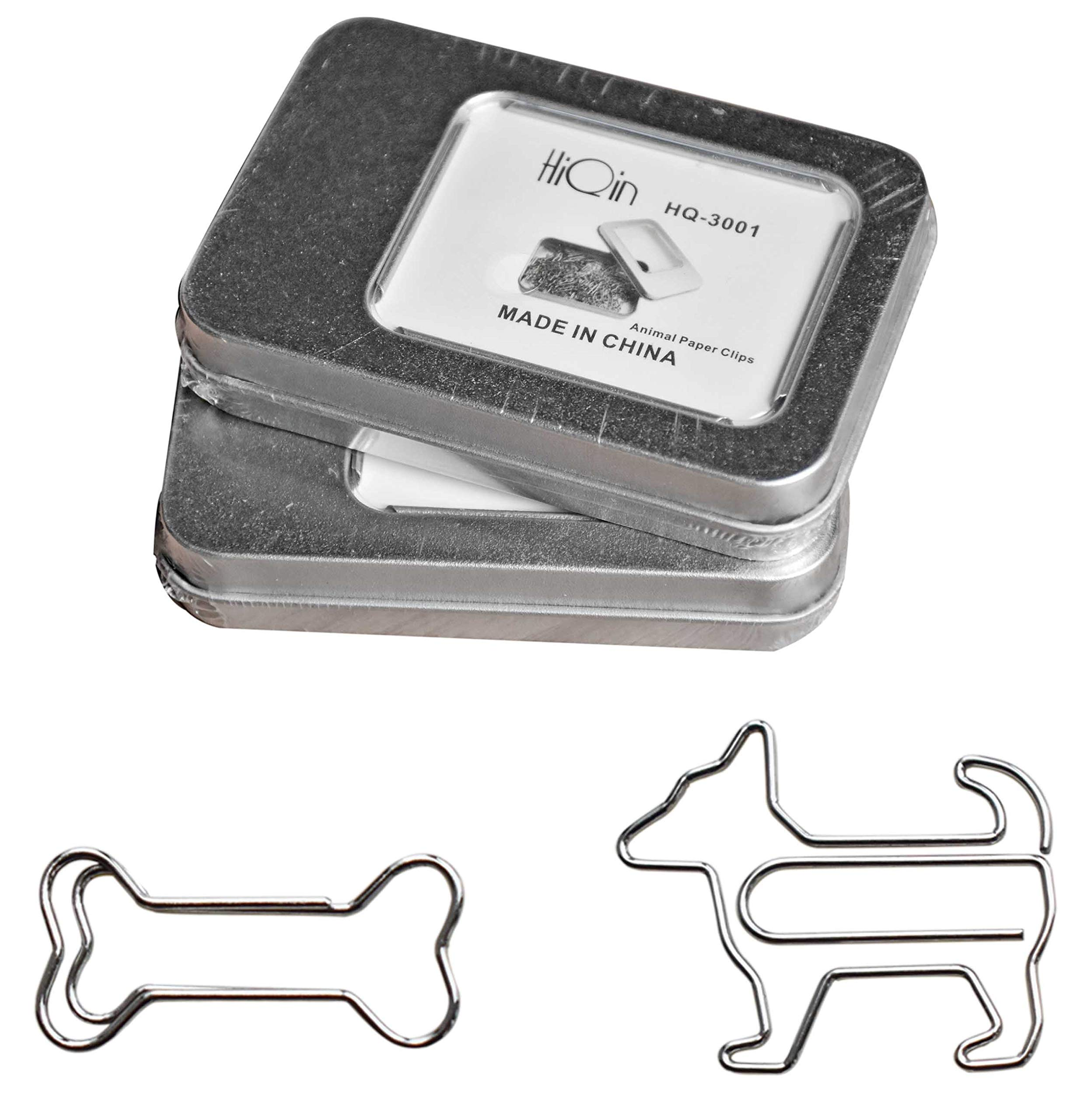 HiQin Paper Clips Bookmarks Dog Loves Bone (Value 2 Boxes) - Cute Office Supplies for Daily Planner or Party Cards - Gifts Idea