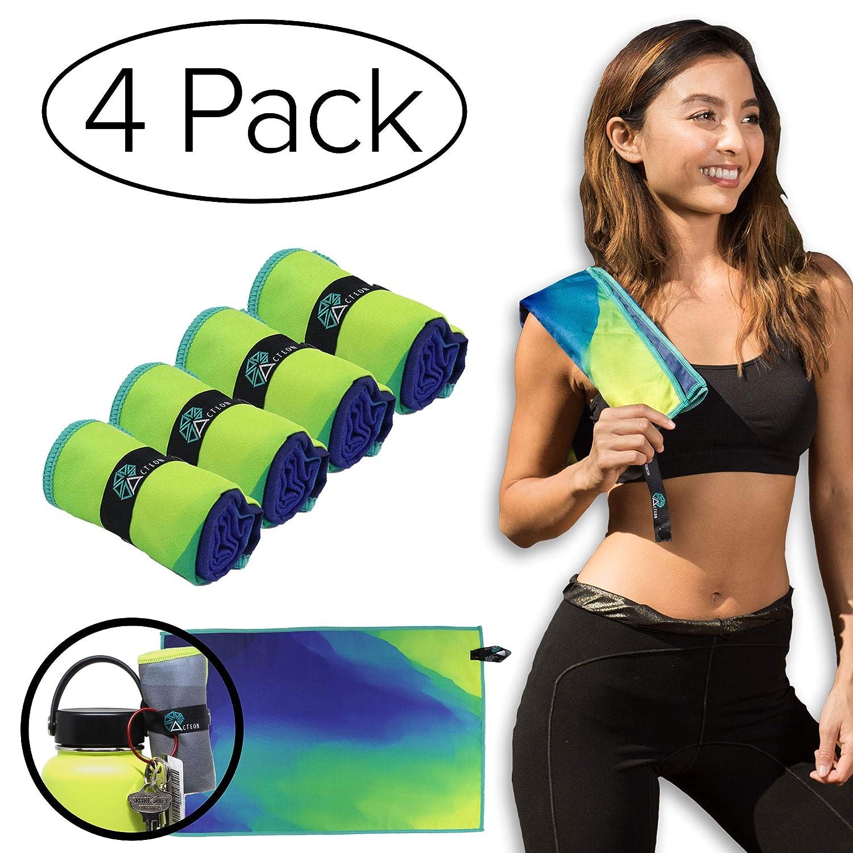 Acteon Premium Gym Towel - Antibacterial, Odor Fighting Ultra Compact Great Running, Sports, Yoga, Camping, Hiking, Camping