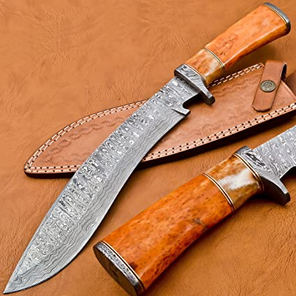 Amazon.com: Sharp bosque cuchillos bk-3034 hecho a mano ...