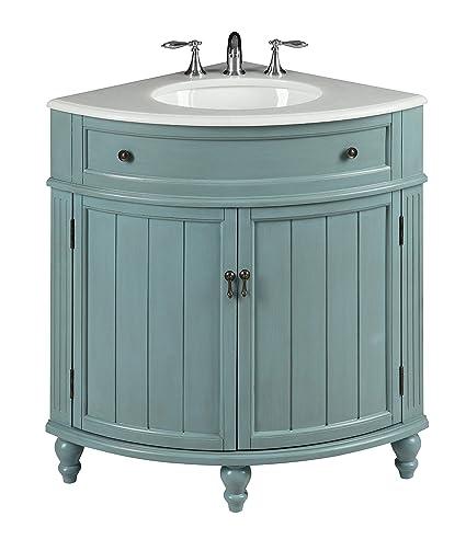 Superbe 24u201d Vintage Light Blue Cottage Style Thomasville Bathroom Sink Vanity Model  # GD 47544BU