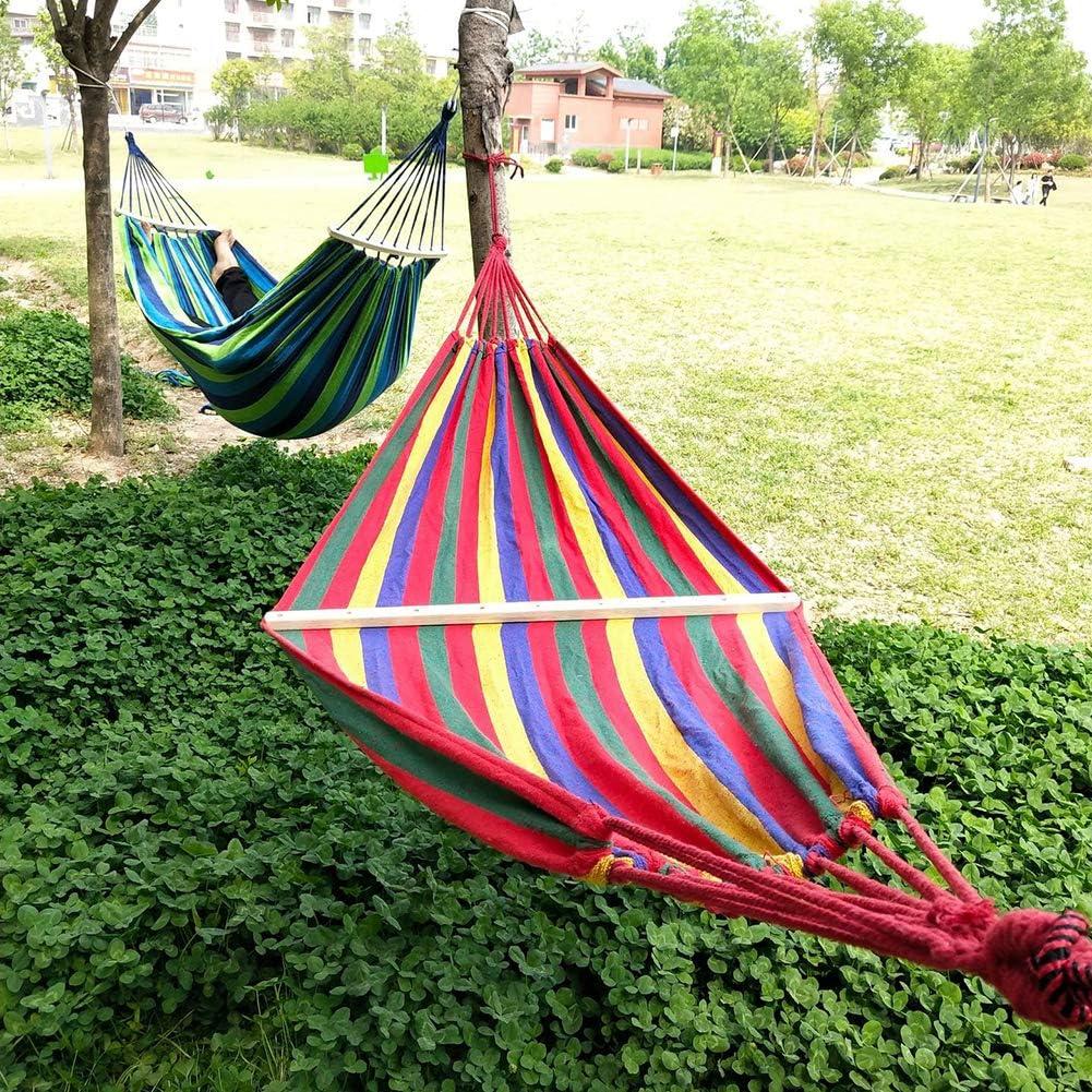in tela 250 x 150 cm da appendere al cortile interno amaca da giardino amaca da campeggio portatile per 2 persone YINKUU esterno da campeggio