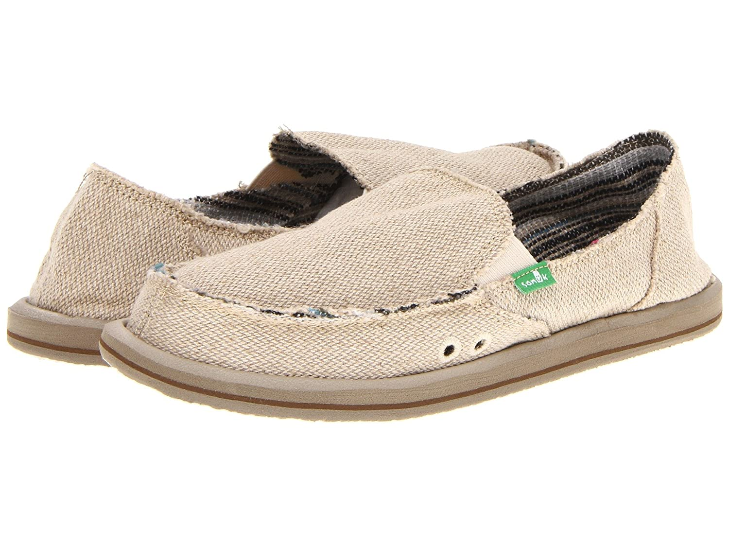 Sanuk Women's Donna Hemp Flat B06Y1TXD2X 5 B(M) US|Natural