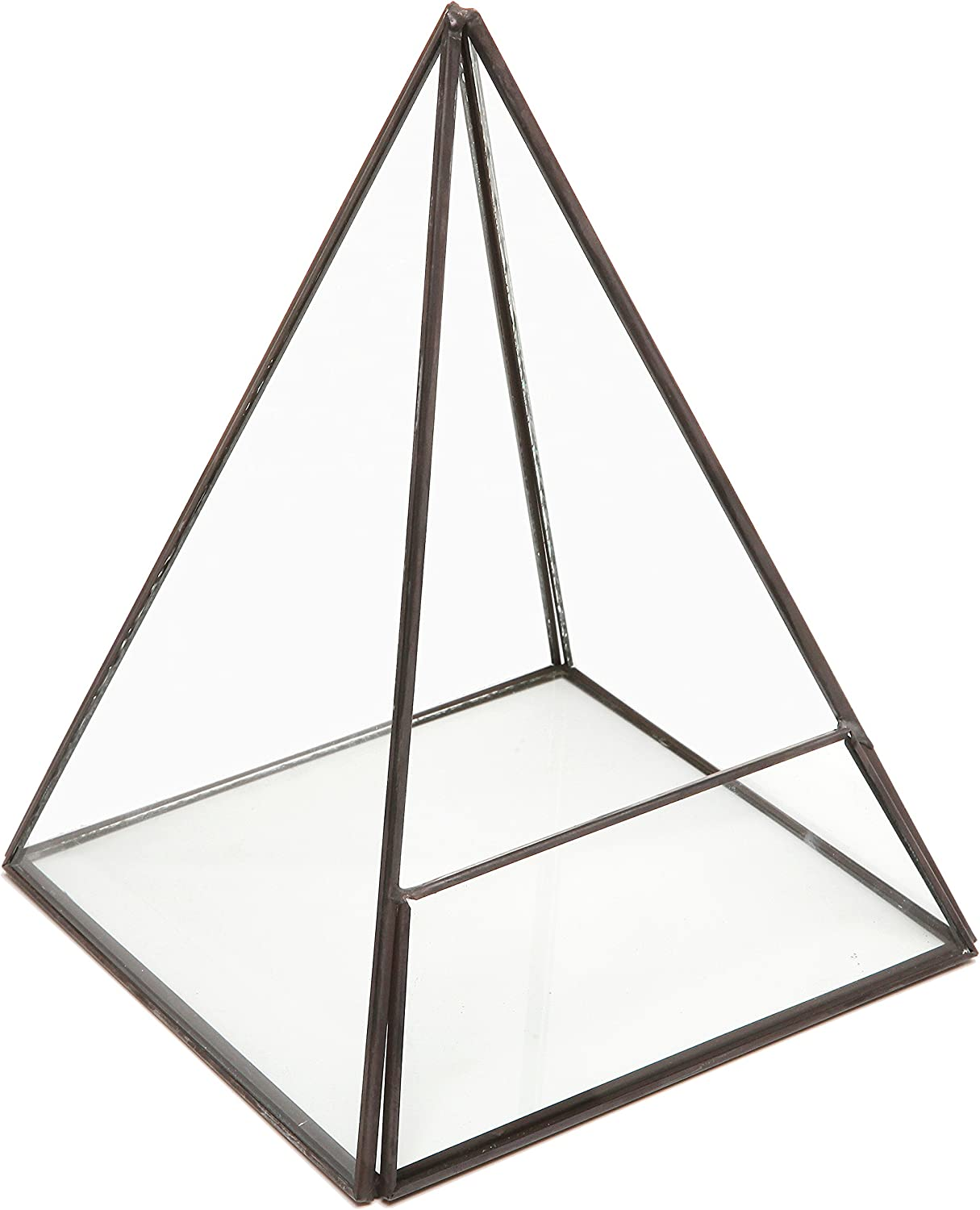 Modern Glass Pyramid Tabletop Succulent Plant Terrarium Box Air Plant Cacti Holder Case – MyGift