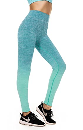 b0c95e12174853 Image Unavailable. Image not available for. Colour: Girl's Ombre Yoga Pants  High Waist Slimming Sport Flexible Leggings ...