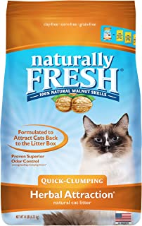product image for Naturally Fresh Cat Litter - Walnut-Based Quick-Clumping Kitty Litter, Herbal Attraction, 14 lb