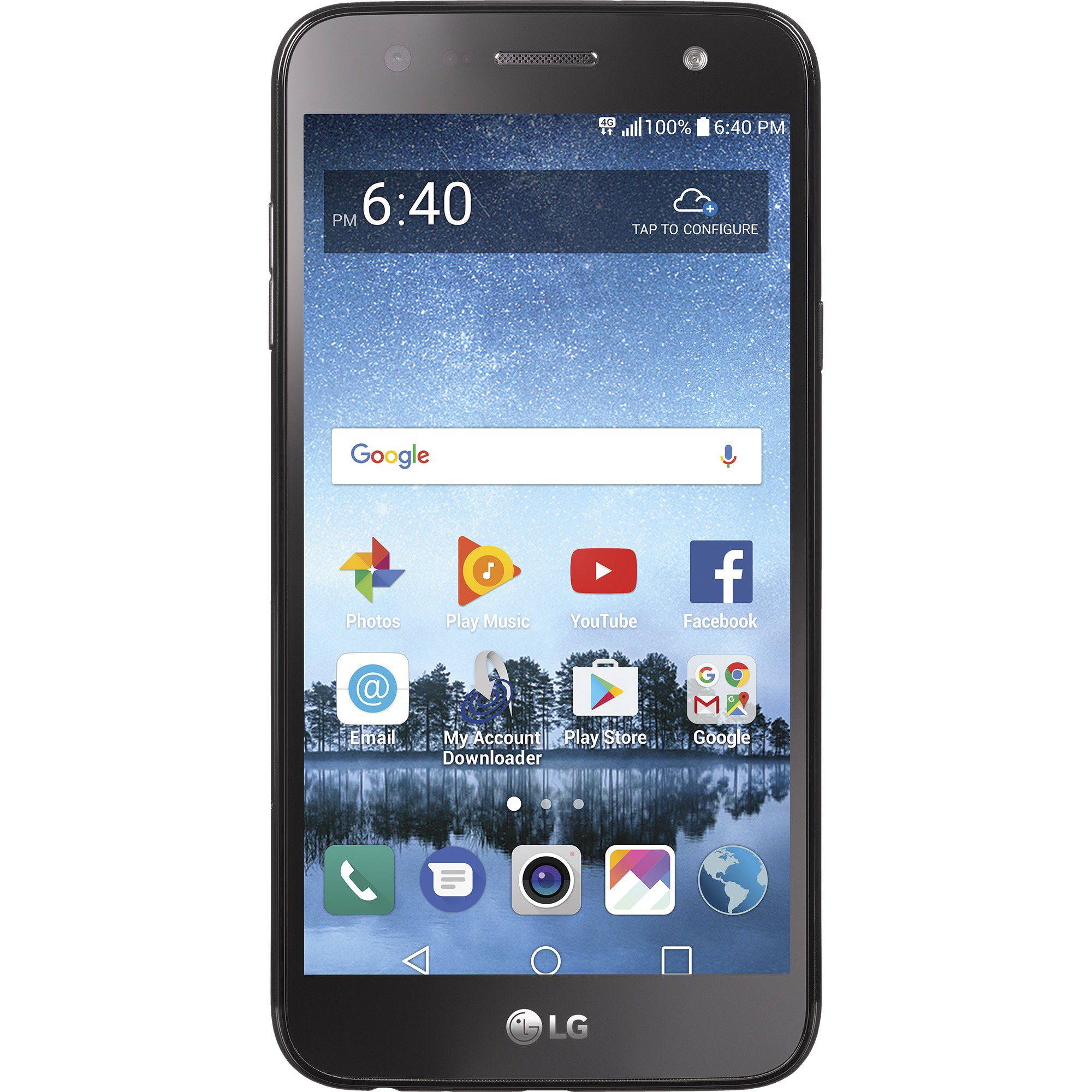 TracFone LG Fiesta 2 4G LTE Prepaid Smartphone with Amazon Exclusive Free $40 Airtime Bundle by TracFone