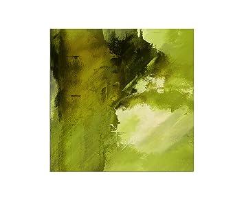 80x80cm   WANDBILD Gemälde Grün Abstrakt   Leinwandbild Auf Keilrahmen  Modern Stilvoll   Bilder Und Dekoration
