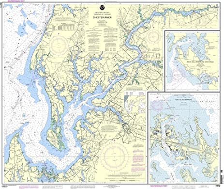 Amazoncom NOAA Chart 12272 Chester River Kent Island Narrows