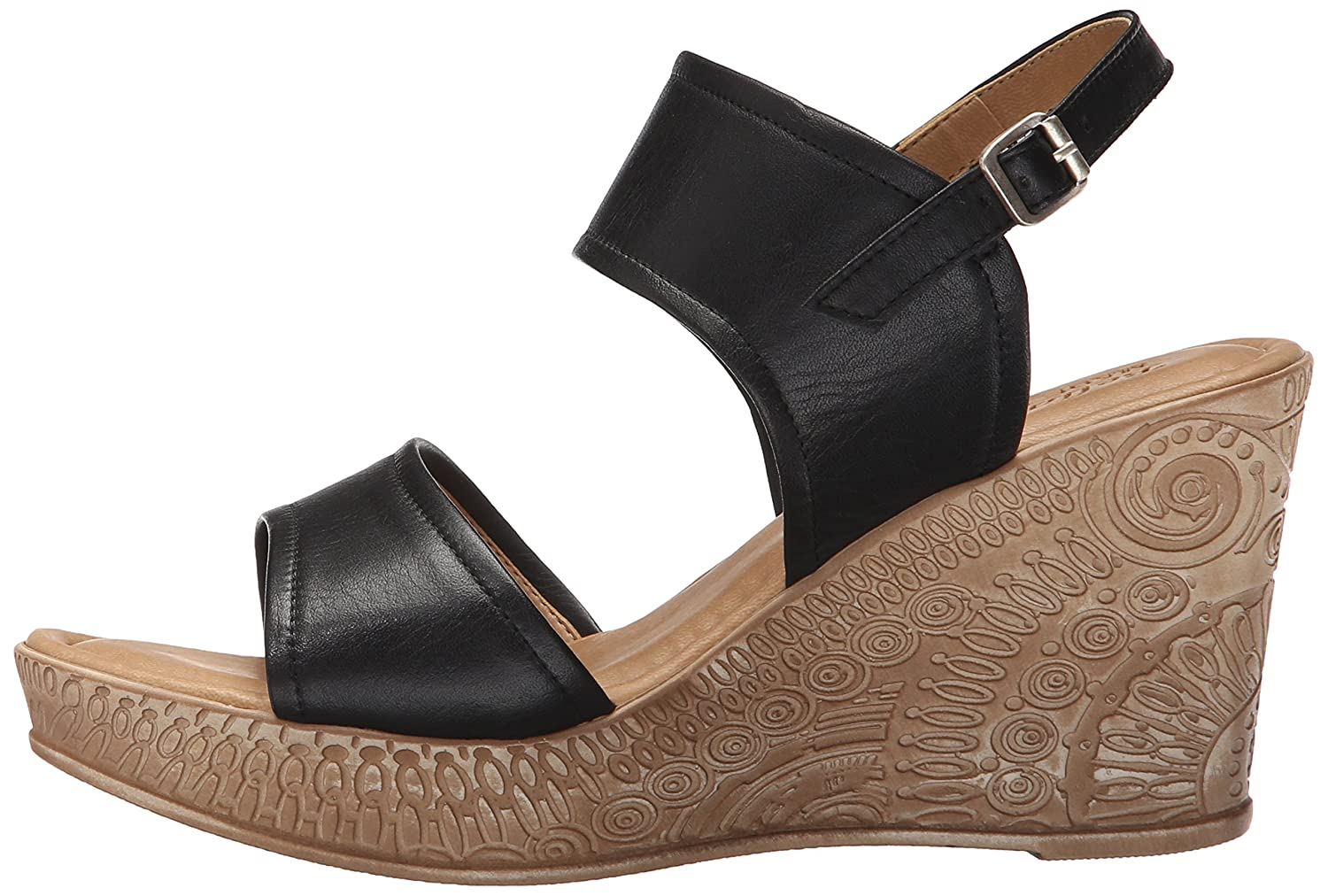 Bella Vita Women's Nicola Wedge Sandal B0163GICEA 9.5 B(M) US|Black
