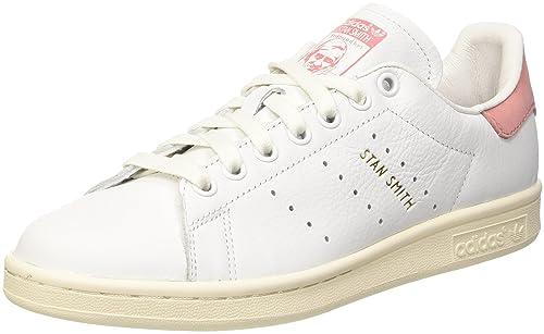 adidas Stan Smith, Scarpe da Ginnastica Uomo, Bianco Ftwwht/Raypnk, 44 2