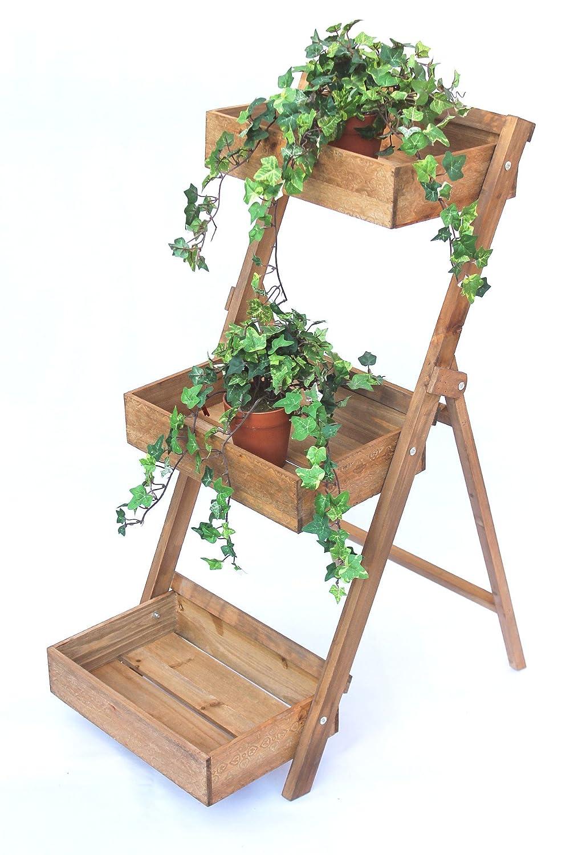 DanDiBo Scala per fiori Fiora in legno 90cm Porta-fiori Scala per piante Scaffale per fiori Scaffale