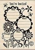 Inkadinkado Fanciful Flower invite Wood Stamp