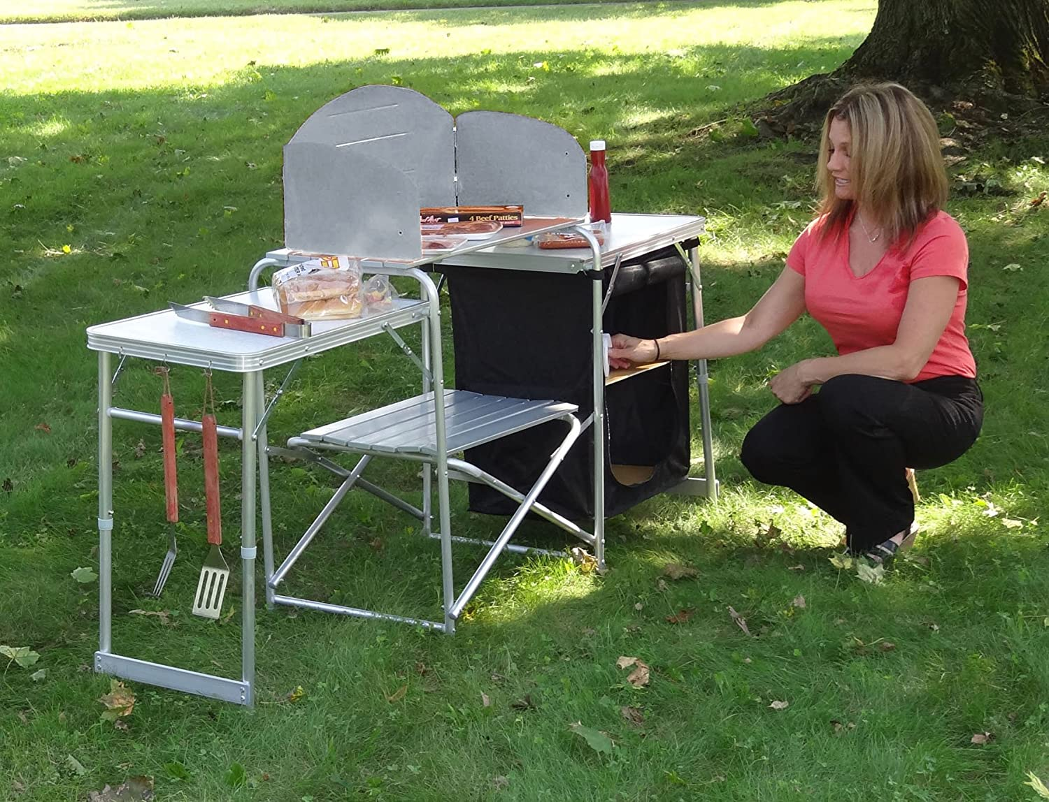 Merveilleux Amazon.com : GigaTent Pack N Go Prep Station : Camping Tables : Sports U0026  Outdoors