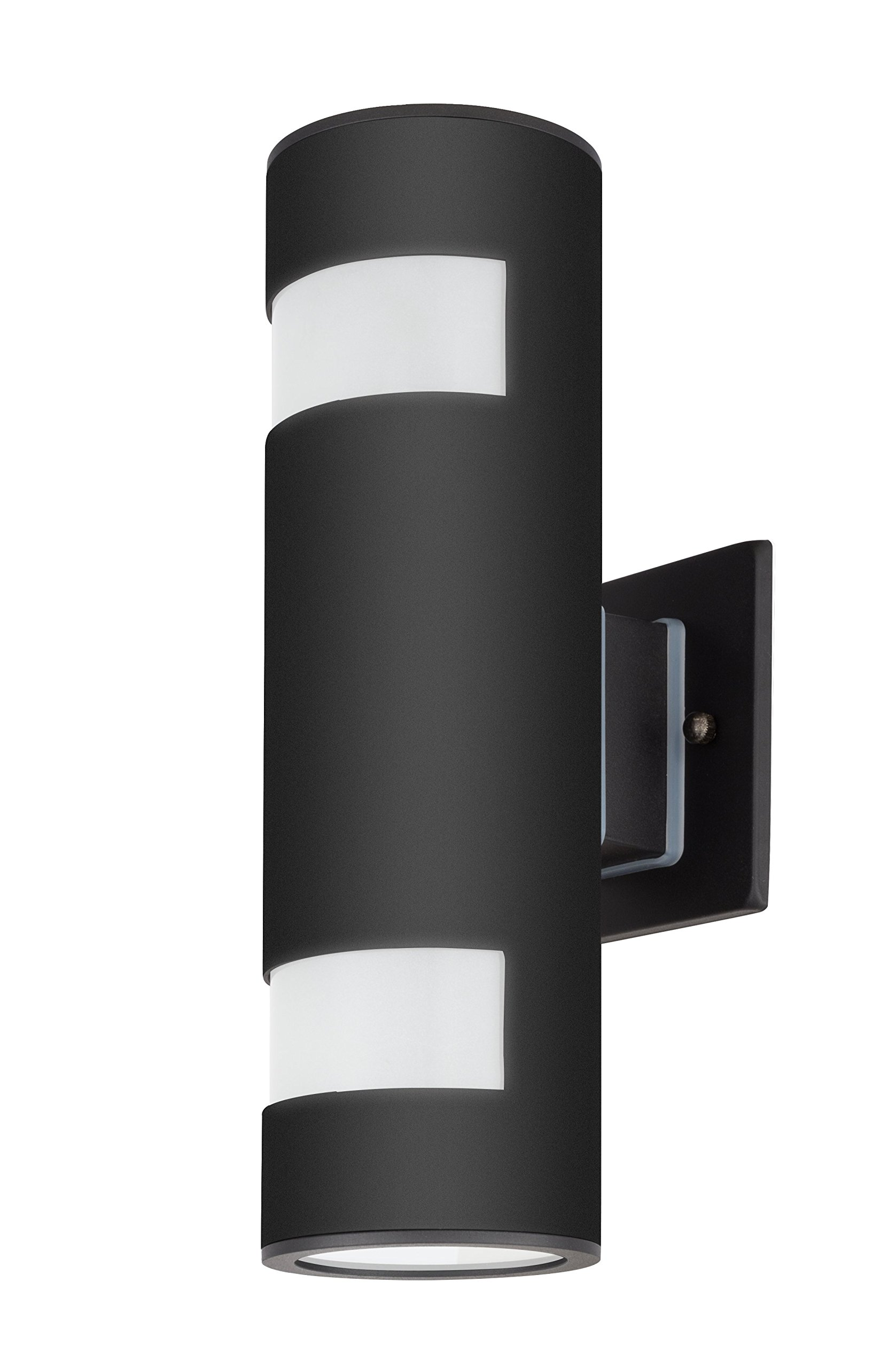 TengXin Outdoor Wall Lamp Modern Wall Sconce Outdoor Light Fixture Black Aluminum Material,Toughened Glass,E27,Waterproof,UL Listed - Light Body is made of aluminum and Up/Down caps are made of Toughened Glasses, Modern Outdoor Wall Sconce, sealed with Silicone Adhesive.Strong and Durable. UL Listed, Weather proof & Rust resistant.High Quality Aluminum Alloy Lamp Body,Exquisite Workmanship,Effective Heat Dissipation Prolong the Service Life Medium Base Socket:features on E26/E27 that is compatible with a variety of Incandescent,LED(60 Watt max,not included) - patio, outdoor-lights, outdoor-decor - 81GKpq9ienL -