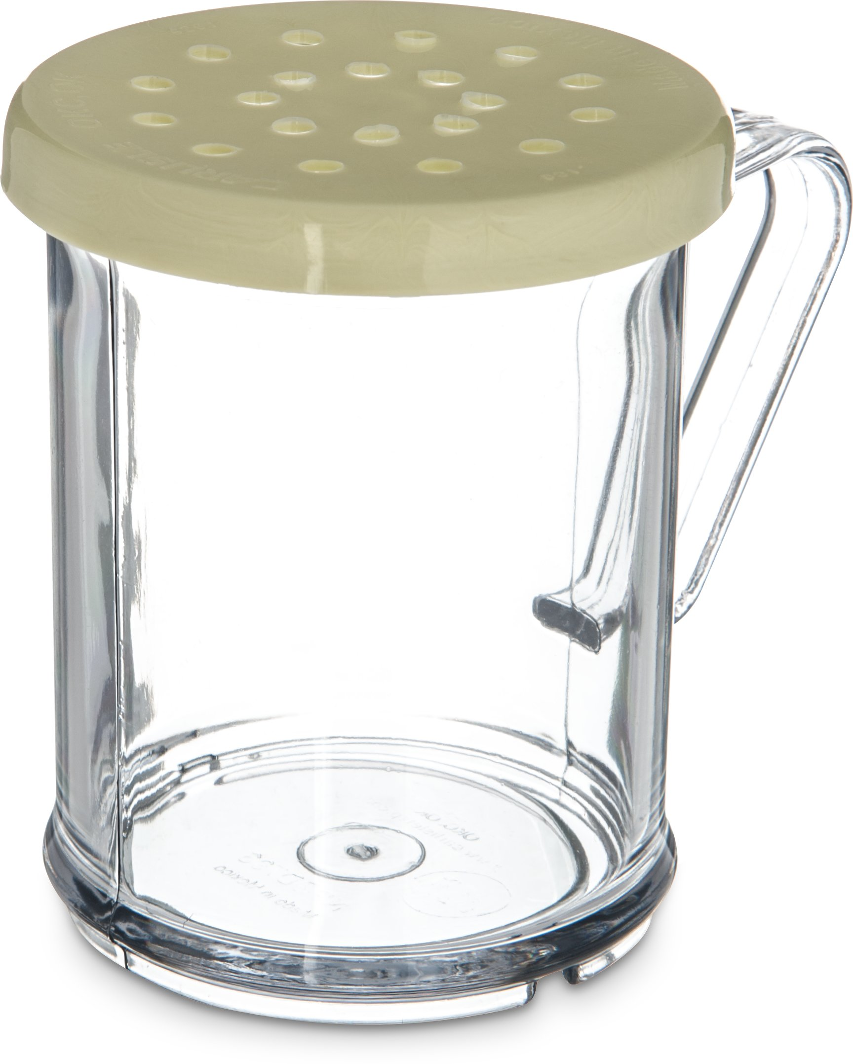 Carlisle 426004 Polycarbonate Cheese Shaker/Dredge with Lid, 1 Cup Capacity, Yellow (Pack of 12) by Carlisle
