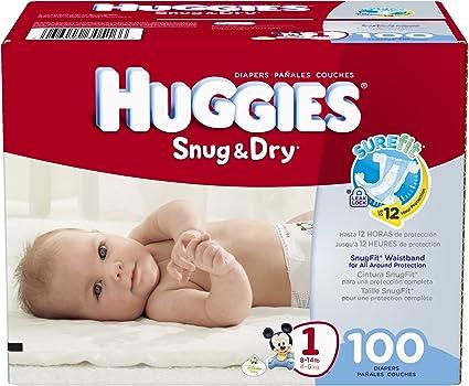 Size 1  44 Ct Brand New Huggies Snug /& Dry Diapers